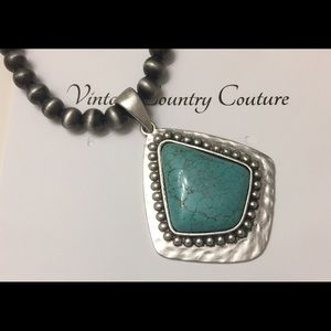 Vintage Country Couture Jewelry - A Turquoise Necklace Boho Western- Southwestern